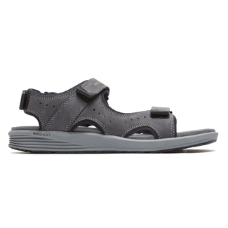 truStride Quarter Strap Sandal in Grey